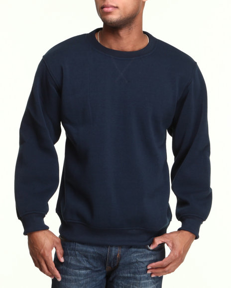Basic Essentials - Men Navy Crewneck Sweatshirt
