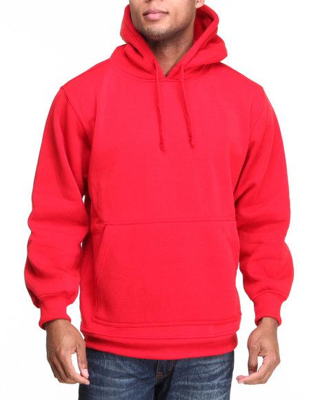 Basic Essentials - Men Red Pullover Hoodie