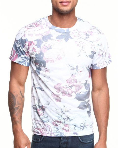 L.A.T.H.C. Multi Old Floral Sublimated Tee