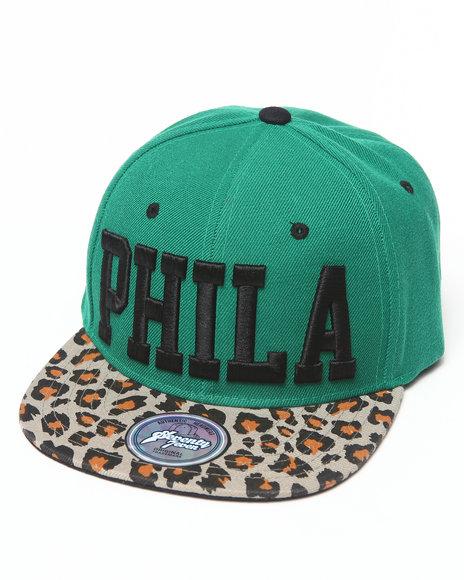 Buyers Picks Men Philadelphia Leopard Print Snapback Hat Green
