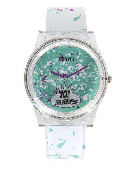 Flud Watches Men Yo! Mtv Raps Pantone Watch Lime Green