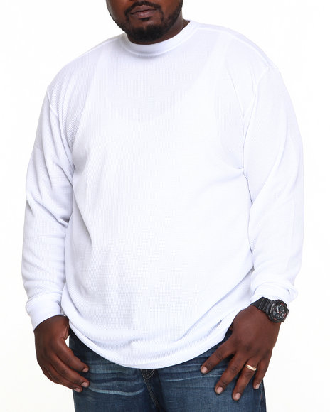 Basic Essentials - Men White Heavy Long Sleeve Thermal Top
