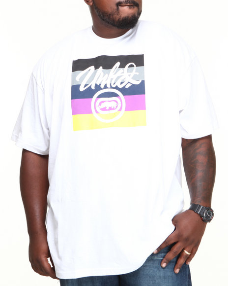 Ecko White Square Circle T-Shirt (Big & Tall)