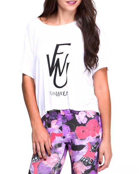 Crooks & Castles - Women White F* With Us Box Tee - $20.99