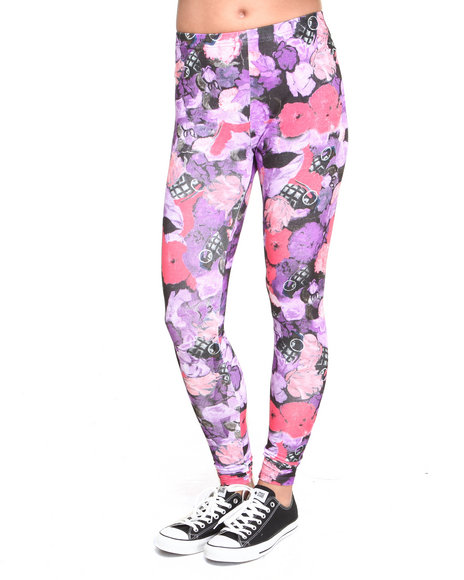 Crooks & Castles - Women Multi Flowerbomb Knit Leggings - $37.99