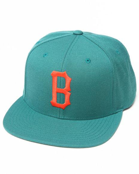Blvck Scvle B Logo Snapback Cap Green
