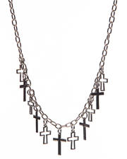 Women - La Souris Cross Necklace
