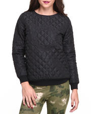 Women - Long Sleeve Chain C Quilted Pullover