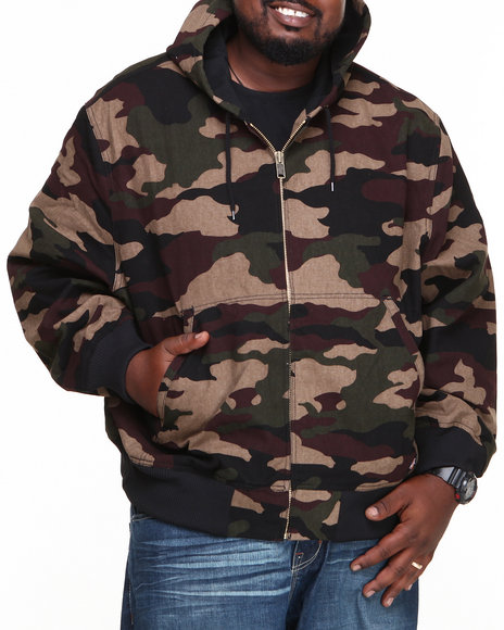 Dickies - Men Camo Sanded Thermal Lined Hooded Jacket (B&T)