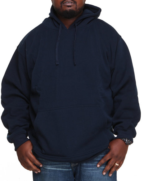 Basic Essentials - Men Navy Pullover Hoodie - $17.99
