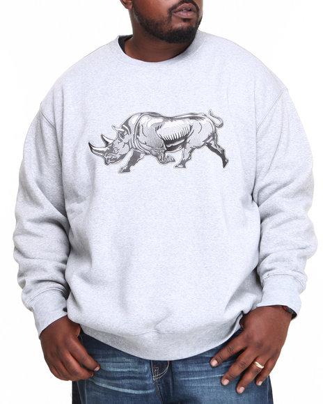 Ecko Grey Right On Crew Fleece Sweater (Big & Tall)
