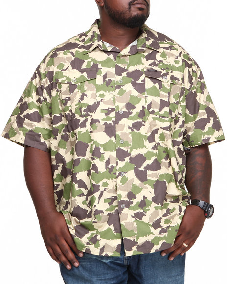 Rocawear - Men Camo Camo S/S Button-Down (B&T)