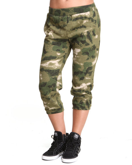 Crooks & Castles Camo Les Voleurs Cropped Sweatpants