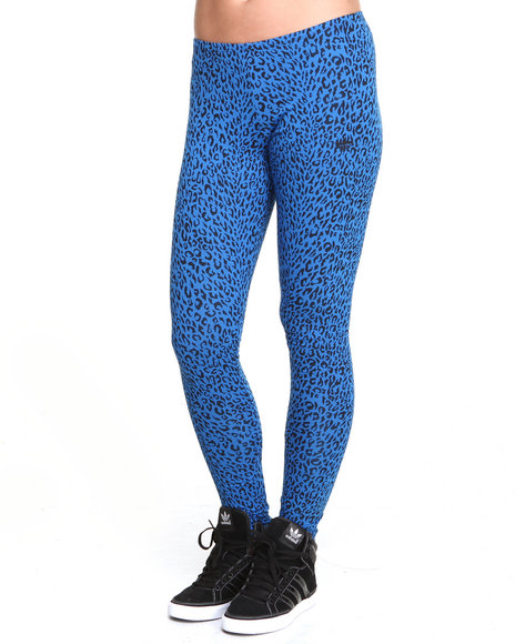 Adidas Animal Print,Blue All Over Leopard Leggings