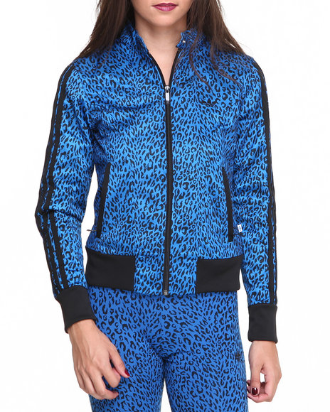 Adidas Blue Supergirl All Over Track Jacket