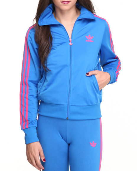Adidas Blue Adi Firebird Track Jacket