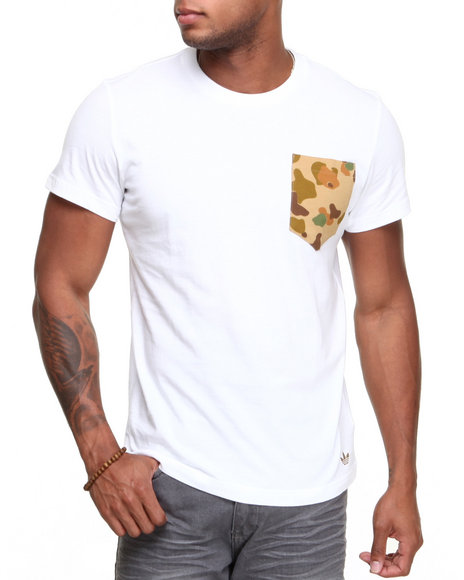 Adidas White Camo Pocket Tee