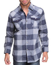 MO7 - Deep Plaid L/S Button Down Shirt