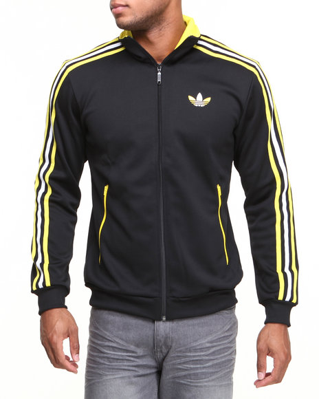Adidas Black Split Stripe Firebird Track Jacket