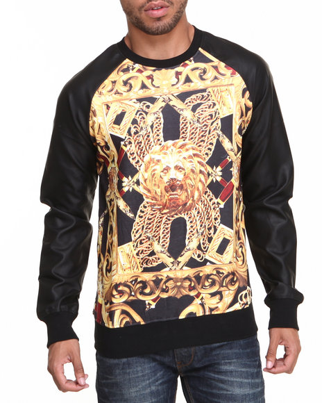 Double Needle Black Goldenlion I I Crewneck Sweatshirt