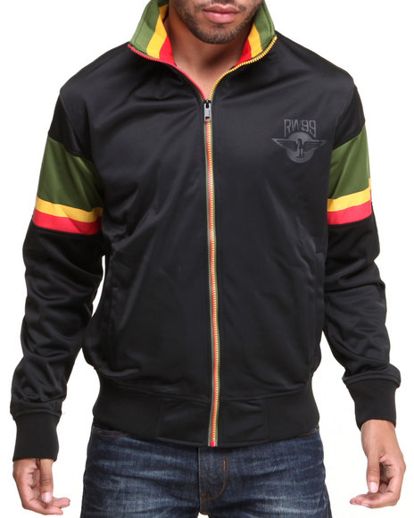 Rocawear Black Bishop Stripe Track Jacket