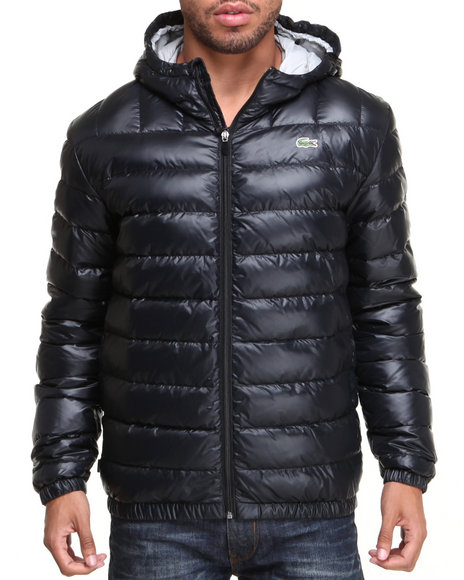 Lacoste Men Featherweight Packable Down Jacket Black Medium