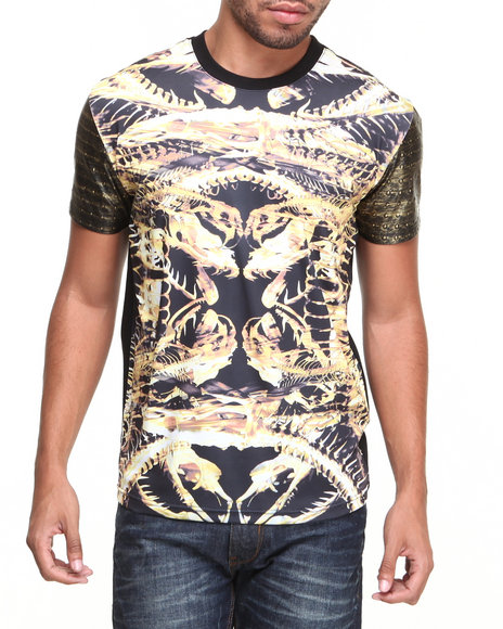 Double Needle Gold Snake Bones S/S Tee