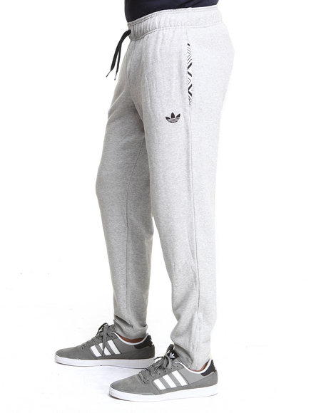Adidas - Men Grey Adidas Fitted Sweatpants