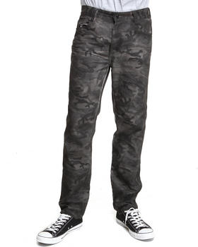 MO7 - Resin Finished Garment Dyed Camo Denim Jeans