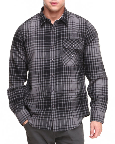 Volcom Grey Button-Downs