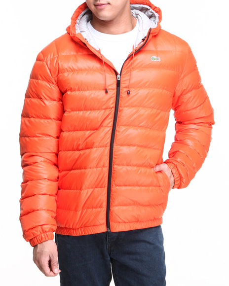 Lacoste Men Featherweight Packable Down Jacket Orange Medium