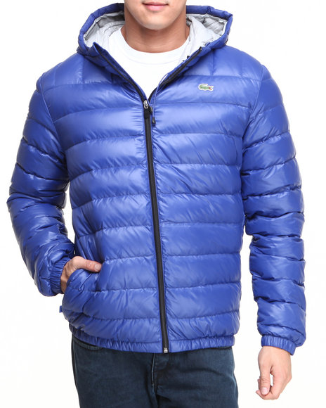 Lacoste Men Featherweight Packable Down Jacket Blue Medium