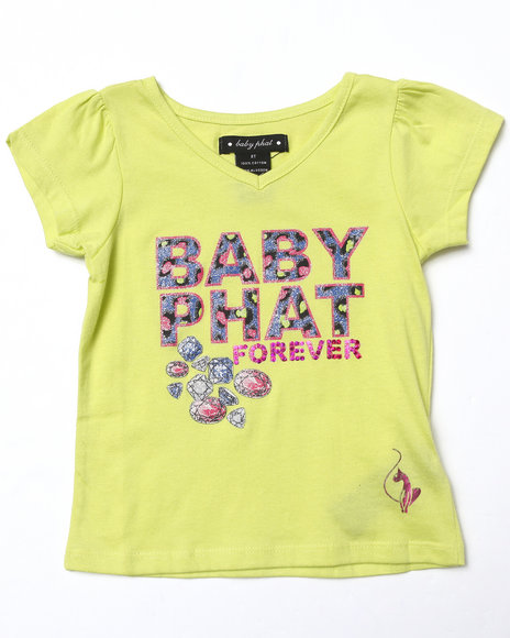 Baby Phat Girls Lime Green Baby Phat Forever Tee (2T-4T)