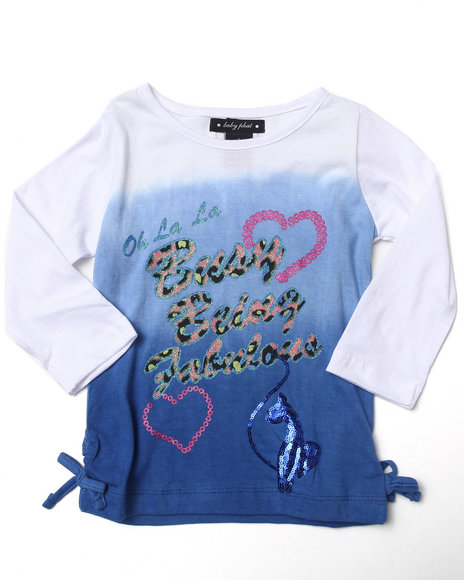 Baby Phat - Girls Blue Being Fabulous Tee (4-6X)