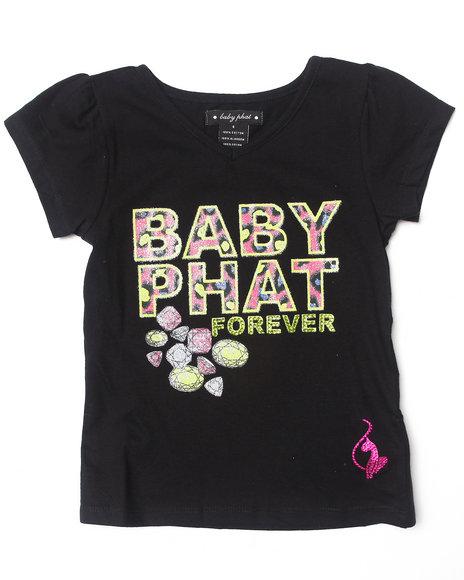 Baby Phat Girls Black Baby Phat Forever Tee (4-6X)