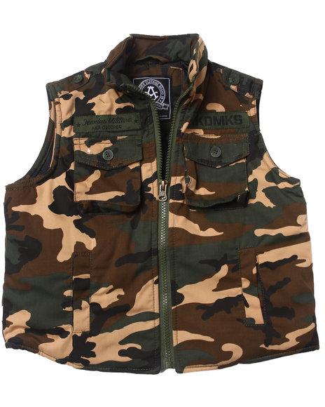 Akademiks - Boys Camo Camo Vest (2T-4T)