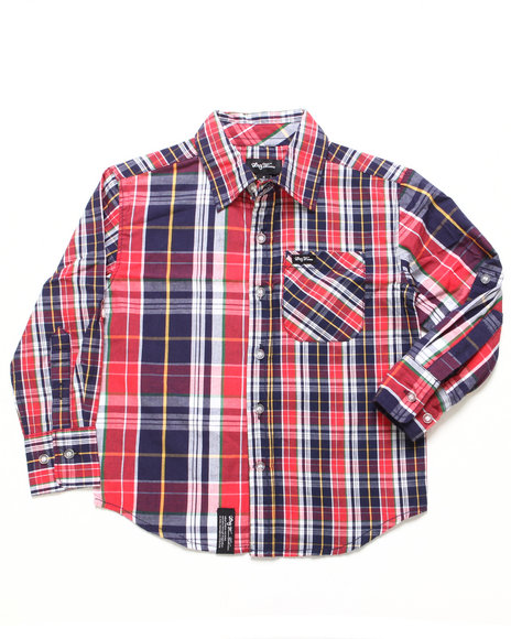Lrg - Boys Red Hier Earning Woven (4-7)
