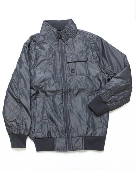 Arcade Styles - Boys Grey Mr. Smooth Nylon Jacket (8-20)