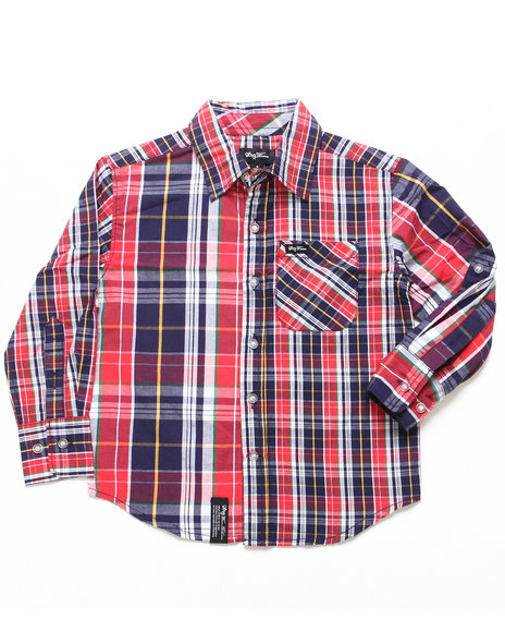 LRG Boys Red Hier Earning Woven (2T-4T)