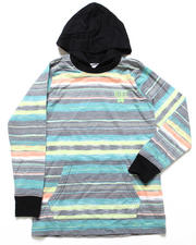 Hoodies - Wave Striped Jersey Hooded Top (8-20)