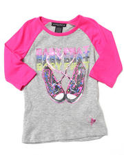 Girls - SNEAKERS RAGLAN TOP (4-6X)
