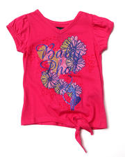 Girls - FLORAL SIDE TIE TEE (2T-4T)