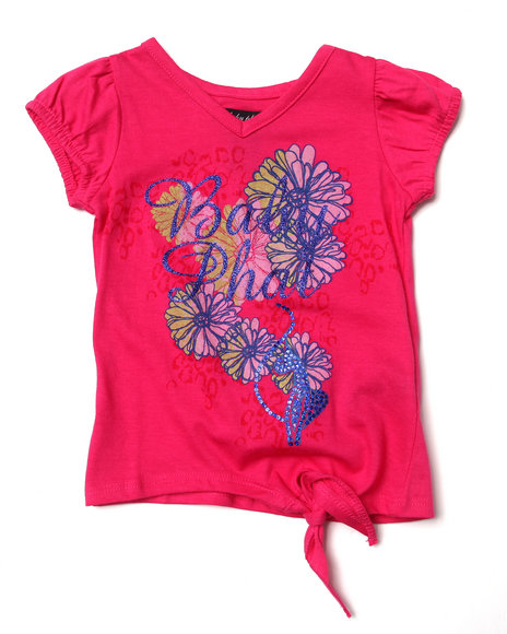 Baby Phat - Girls Pink Floral Side Tie Tee (2T-4T)