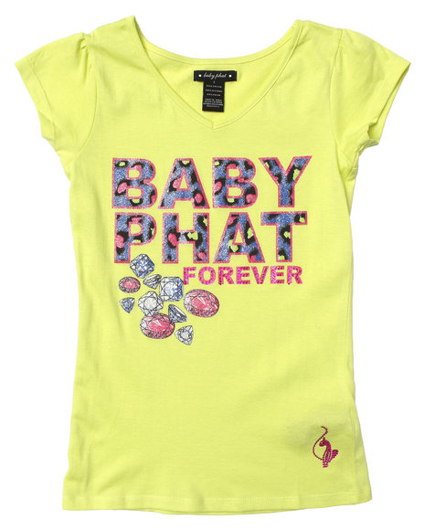 Baby Phat - Girls Lime Green Baby Phat Forever Tee (7-16)