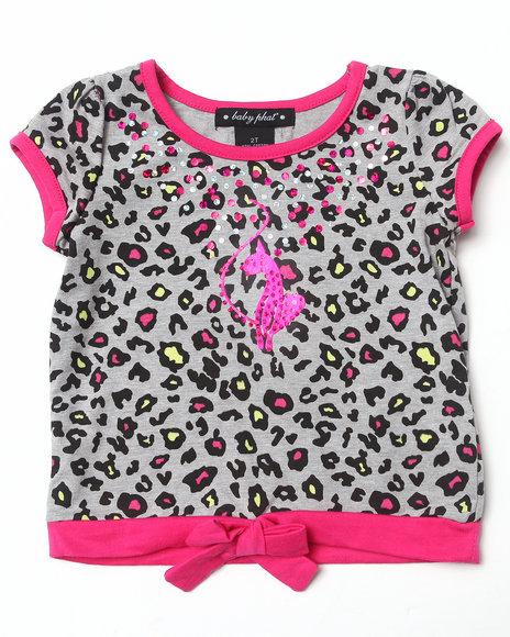 Baby Phat - Girls Pink Animal Tie Front Top (2T-4T)