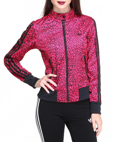 Adidas Pink Supergirl All Over Track Jacket