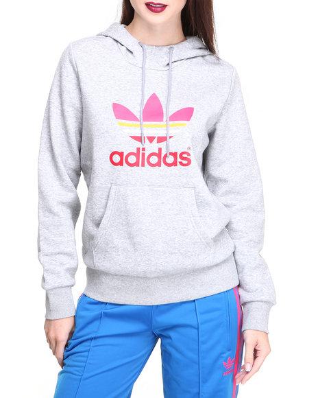 Adidas Grey Trefoil Pullover Hoodie