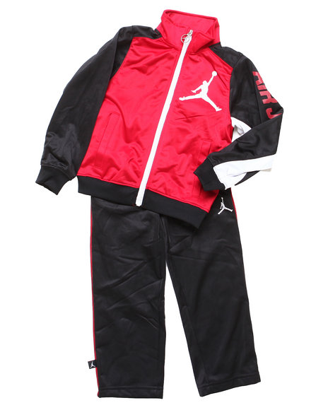 Air Jordan Boys Red Aj23 All Day Tricot Set (4-7)