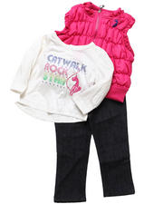 Infant & Newborn - 3 PC PUFFER VEST SET (INFANT)