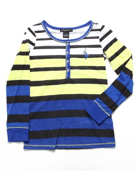 Baby Phat - Girls Blue Striped Henley (7-16)